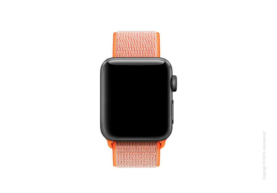 Спортивный браслет цвета «оранжевый шафран» 38 мм