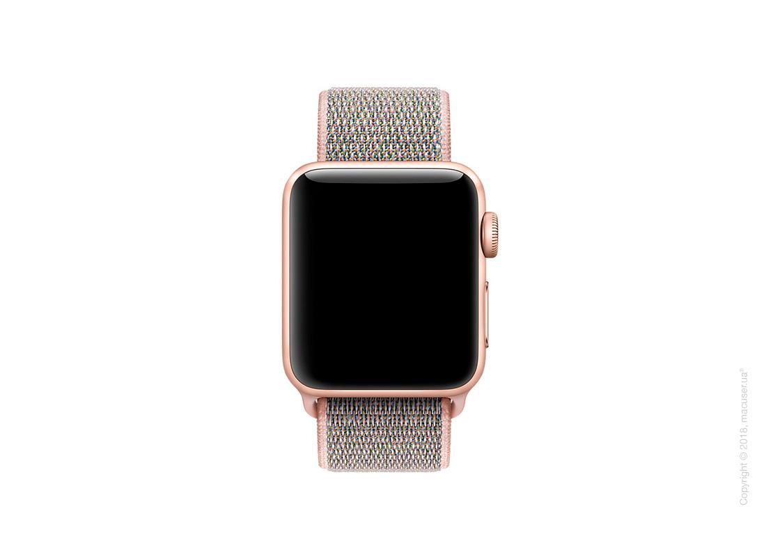 Спортивный браслет цвета «розовый песок» 38 мм