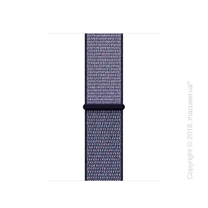 Спортивный браслет тёмно-синего цвета 38 мм