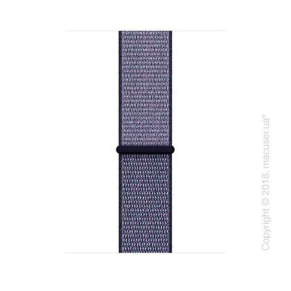 Спортивный браслет тёмно-синего цвета 42 мм
