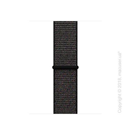 Спортивный браслет чёрного цвета 38 мм