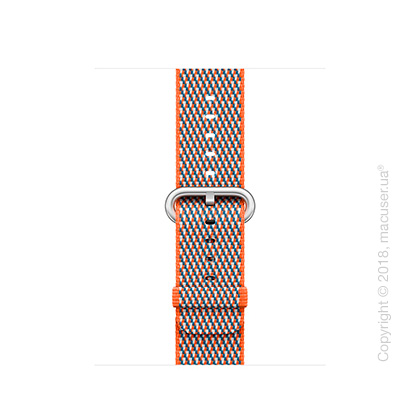 Ремешок из плетёного нейлона цвета «оранжевый шафран» (сетчатый узор) 38 мм