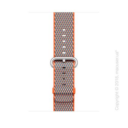 Ремешок из плетёного нейлона цвета «оранжевый шафран» (сетчатый узор) 42 мм