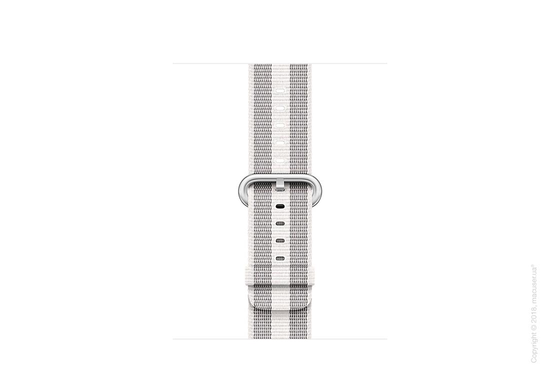 Ремешок из плетёного нейлона белого цвета (в полоску) 38 мм
