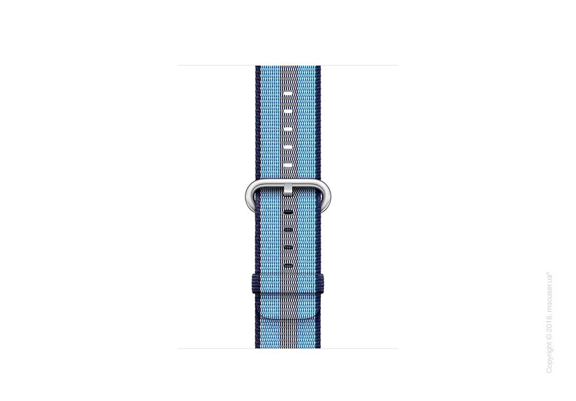 Ремешок из плетёного нейлона тёмно-синего цвета (в полоску) 38 мм