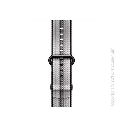 Ремешок из плетёного нейлона чёрного цвета (в полоску) 38 мм