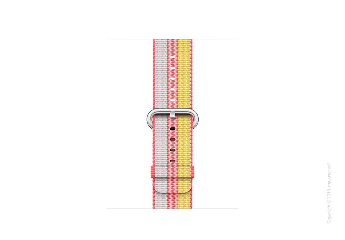 Ремешок из плетёного нейлона красного цвета (в полоску) 38 мм