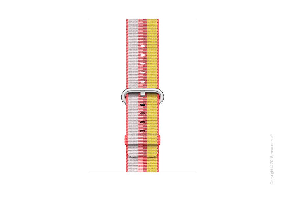 Ремешок из плетёного нейлона красного цвета (в полоску) 42 мм
