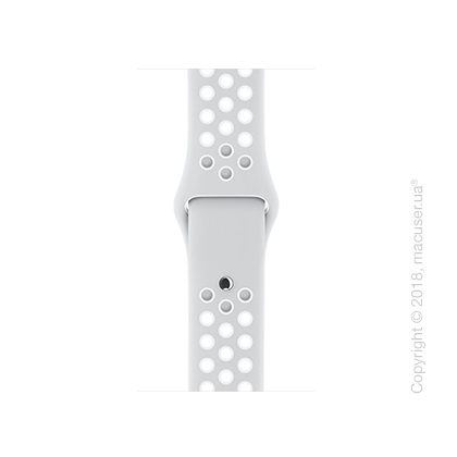 Спортивный ремешок Nike цвета «чистая платина/белый» 38 мм
