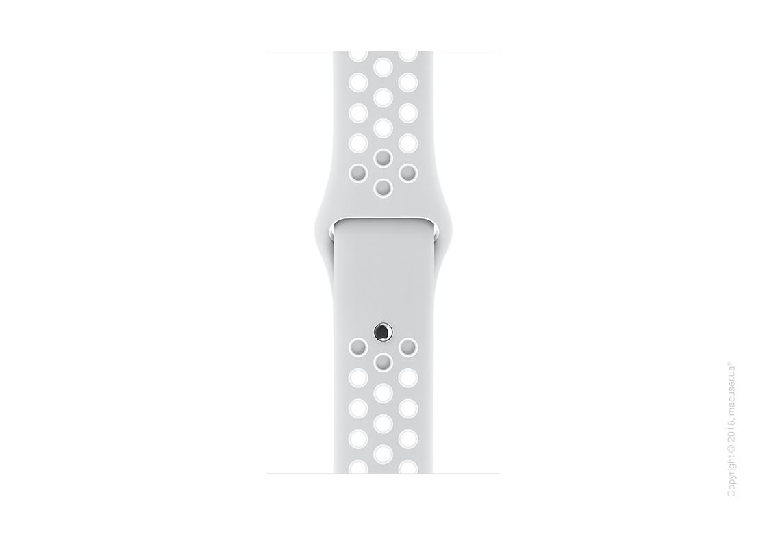 Спортивный ремешок Nike цвета «чистая платина/белый» 42 мм