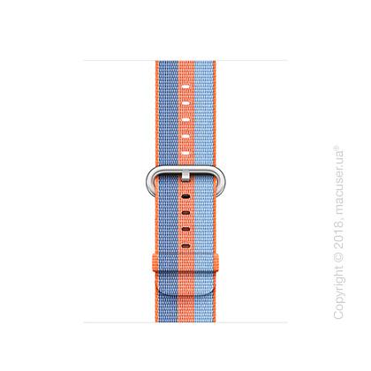 Ремешок из плетёного нейлона оранжевого цвета (в полоску) 38 мм