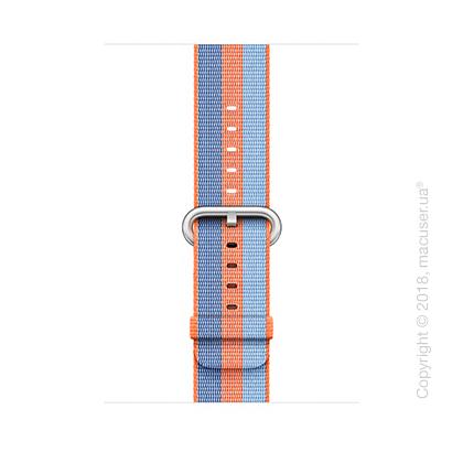 Ремешок из плетёного нейлона оранжевого цвета (в полоску) 42 мм