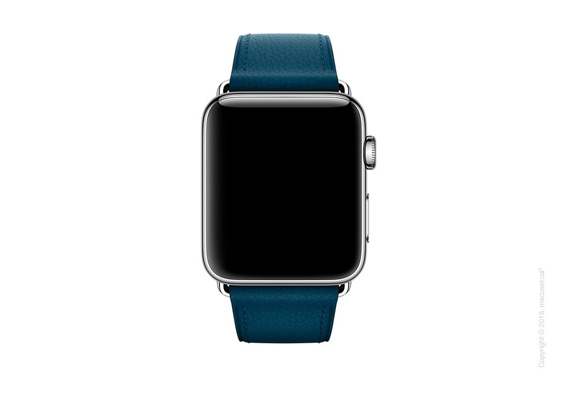Ремешок цвета «космический синий» с классической пряжкой 42 мм