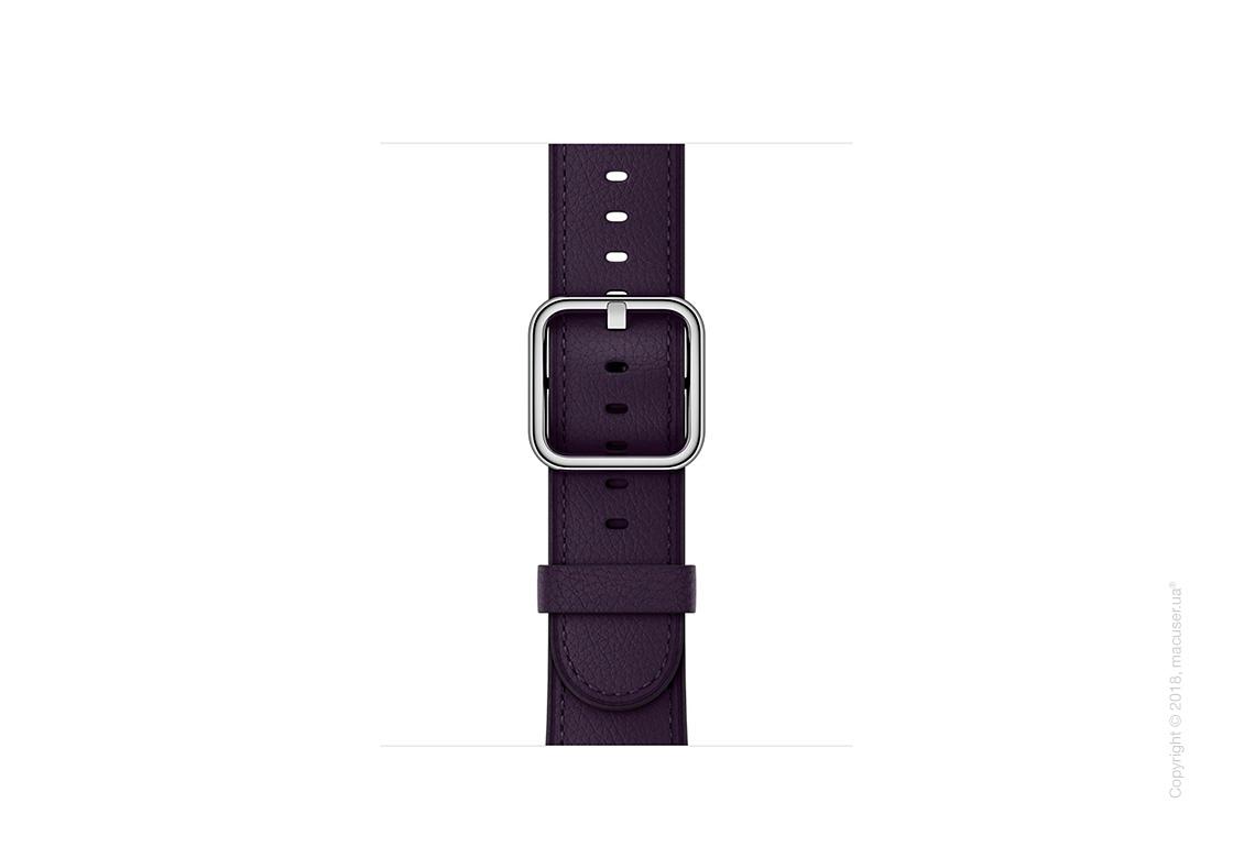 Ремешок баклажанового цвета с классической пряжкой 38 мм