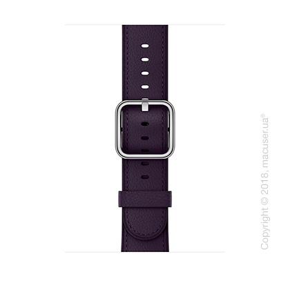 Ремешок баклажанового цвета с классической пряжкой 42 мм