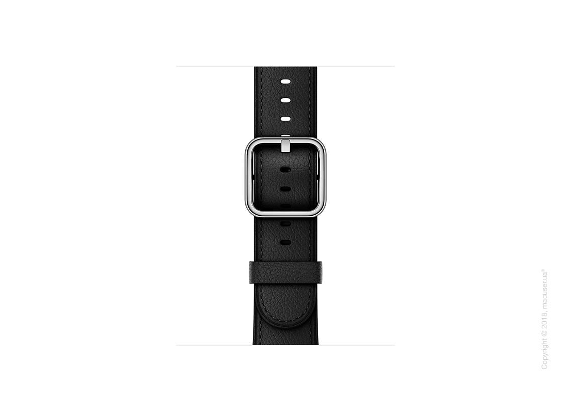 Ремешок чёрного цвета с классической пряжкой 38 мм