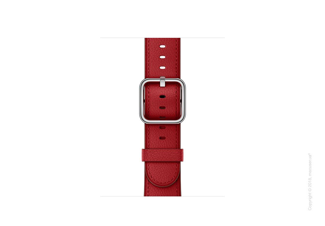 Ремешок (PRODUCT)RED рубинового цвета с классической пряжкой 38 мм