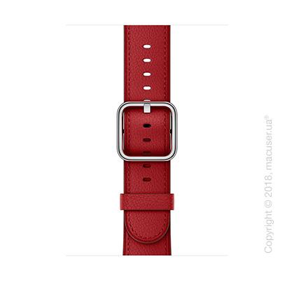 Ремешок (PRODUCT)RED рубинового цвета с классической пряжкой 42 мм