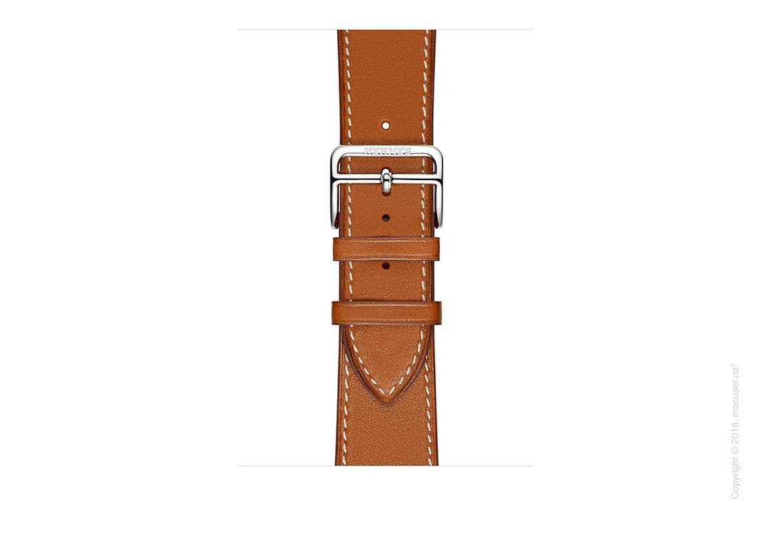 Apple Watch Hermès: ремешок Simple Tour из кожи Barénia цвета Fauve 38 мм