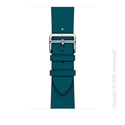 Apple Watch Hermès: ремешок Simple Tour из кожи Swift цвета Colvert 42 мм