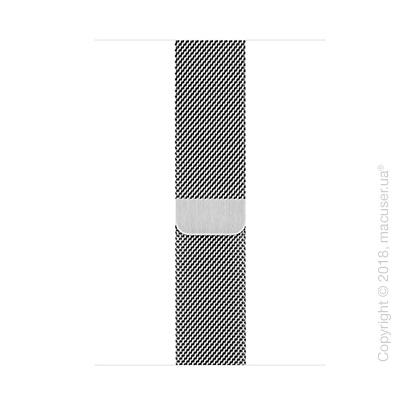 Миланский сетчатый серебристого цвета 42 мм