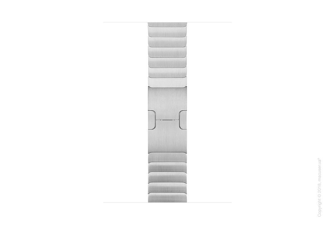 Блочный браслет серебристого цвета 42 мм