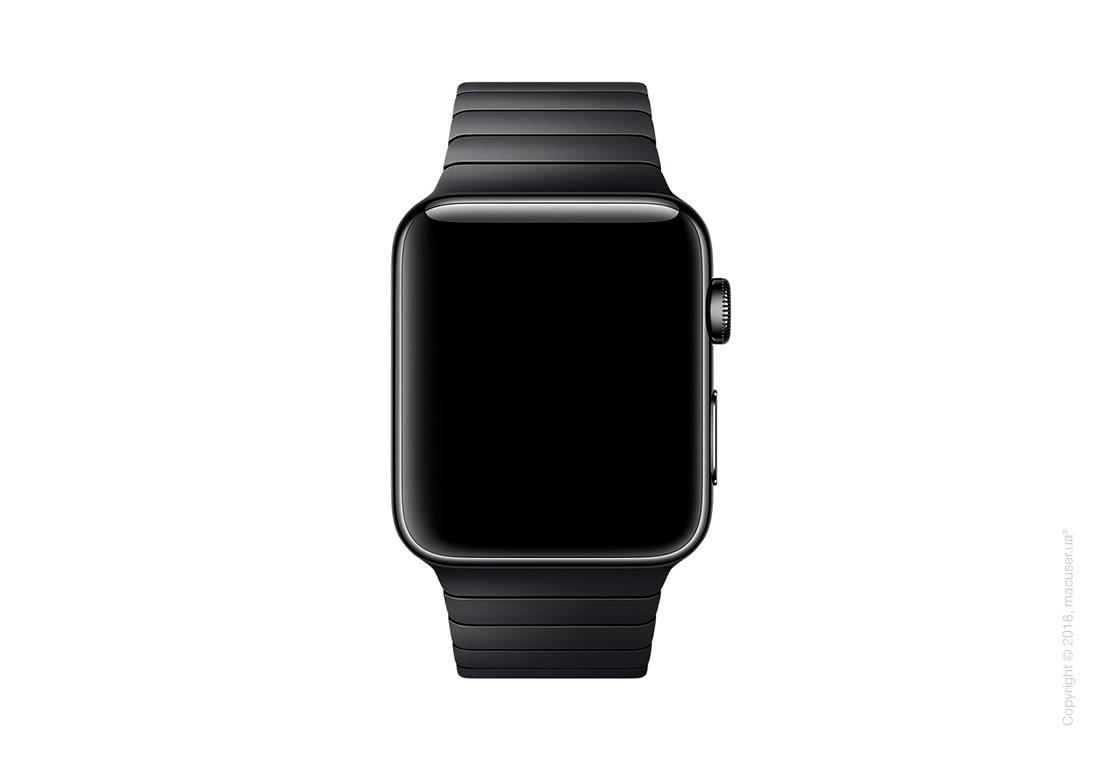 Блочный браслет цвета «чёрный космос» 42 мм