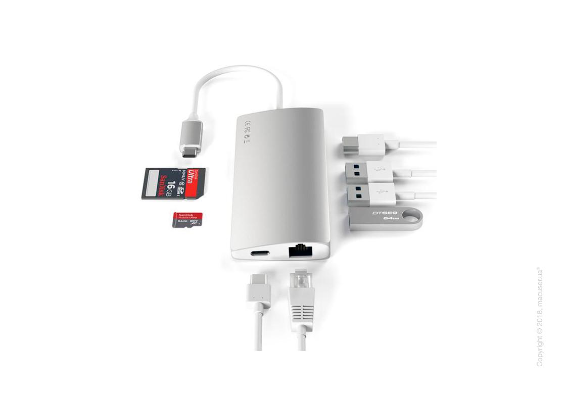 Адаптер Satechi Type-C Multi-Port Adapter 4K With Ethernet V2 Silver