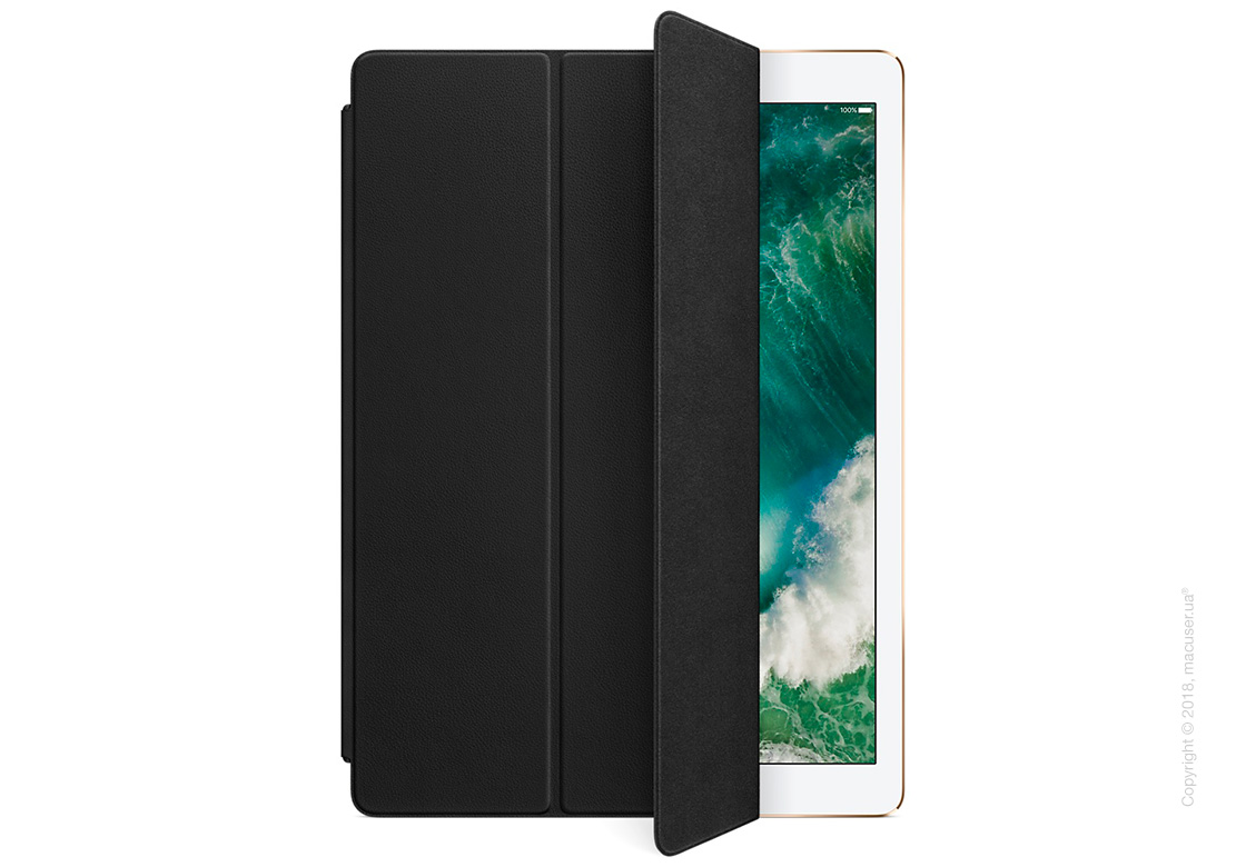 Чехол Leather Smart Cover, Black для iPad Pro 12,9