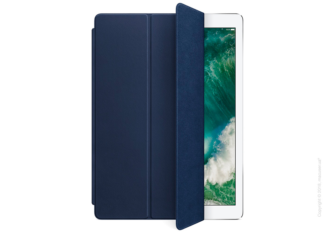 Чехол Leather Smart Cover, Midnight Blue для iPad Pro 12,9