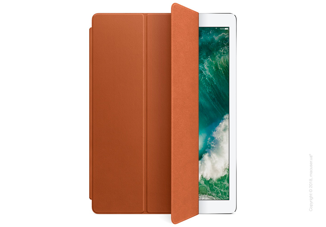 Чехол Leather Smart Cover, Saddle Brown для iPad Pro 12,9