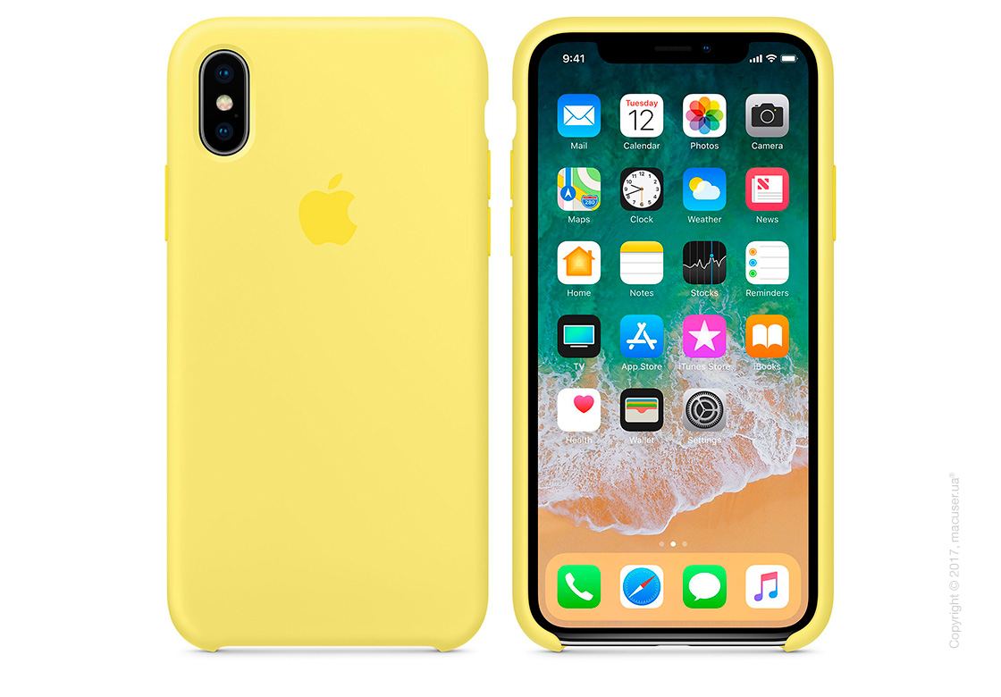 Чехол iPhone X Silicone Case - Lemonade