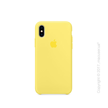 Чехол iPhone X Silicone Case - Lemonade