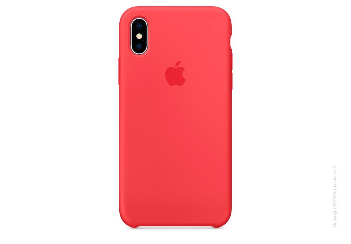 Чехол iPhone X Silicone Case - Red Raspberry