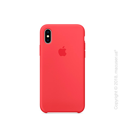 Чехол iPhone X Silicone Case - Red Raspberry