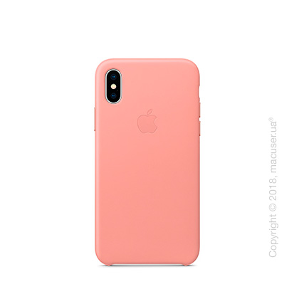 Чехол iPhone X Leather Case - Soft Pink