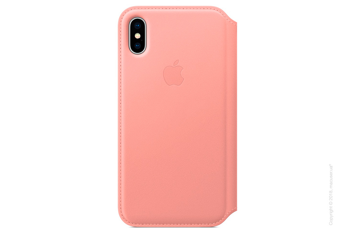 Чехол iPhone X Leather Folio - Soft Pink