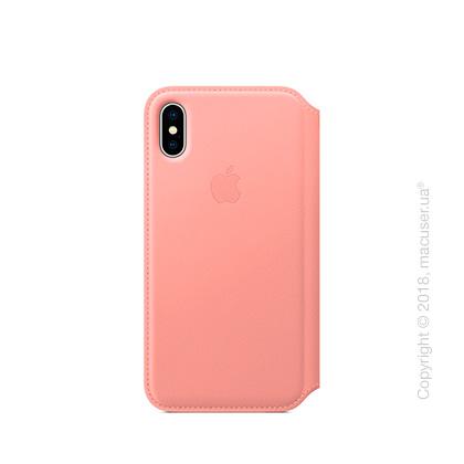Чехол iPhone X Leather Folio - Soft Pink