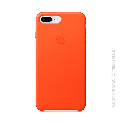 Чехол Apple iPhone 8 Plus/7 Plus  Leather Case, Bright Orange