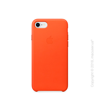 Чехол Apple iPhone 8/7 Leather Case, Bright Orange