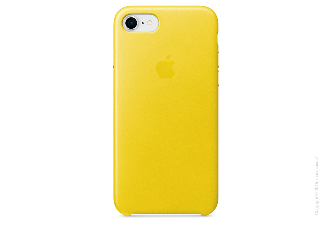 Чехол Apple iPhone 8/7 Leather Case, Spring Yellow