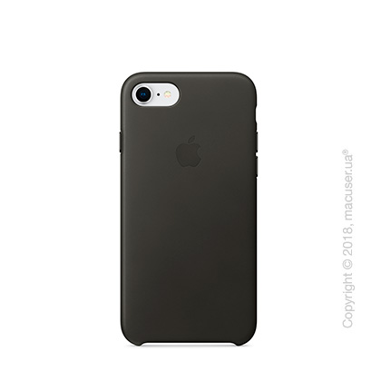 Чехол Apple iPhone 8/7 Leather Case, Charcoal Gray