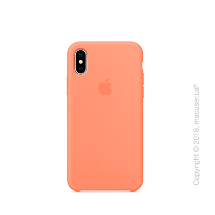 Чехол Apple iPhone X Silicone Case - Peach