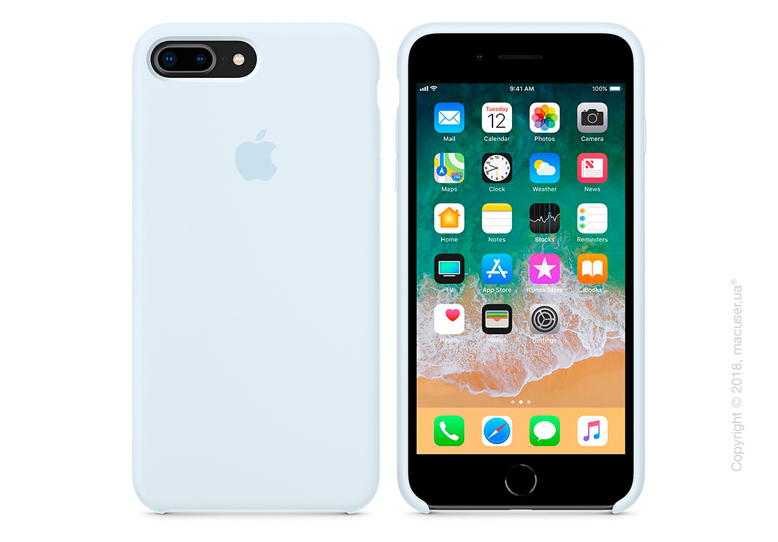 Чехол Apple iPhone 8 Plus/7 Plus Silicone Case - Sky Blue