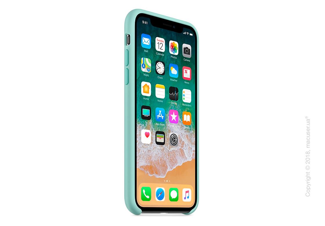 Чехол Apple iPhone X Silicone Case - Marine Green