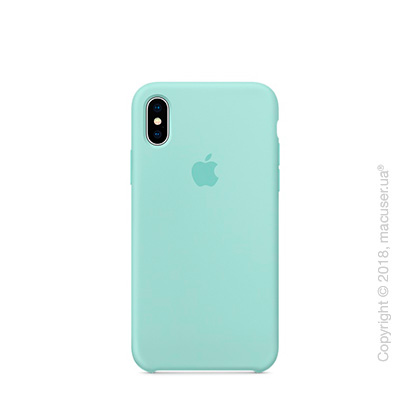 Чехол Apple iPhone X Silicone Case - Marine Green