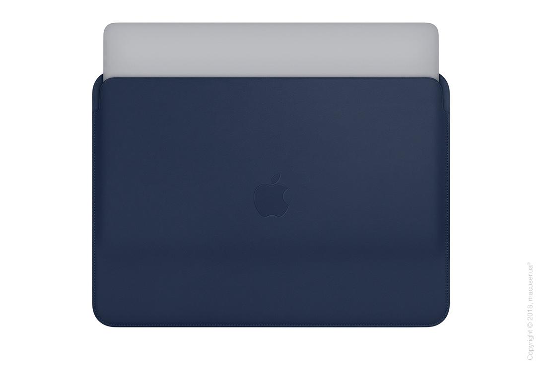 Кожаный чехол для MacBook Pro 13 дюймов, Midnight Blue