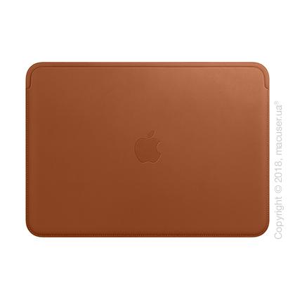 Кожаный чехол для MacBook Pro 13 дюймов, Saddle Brown