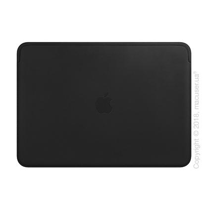 Кожаный чехол для MacBook Pro 13 дюймов, Black