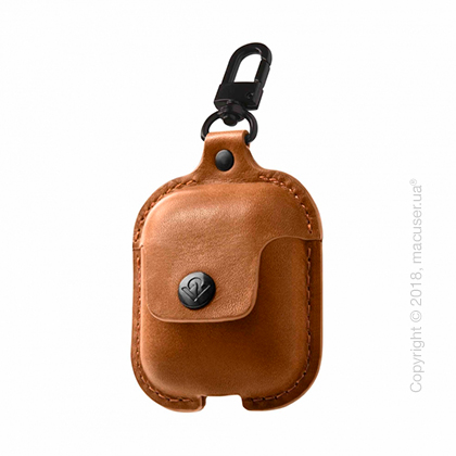 Чехол Twelve South AirSnap for AirPods – Cognac